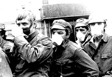 Deconatimation team in Chernobyl - Pripyat / Pripjat - Foto: BelarusGuide.com